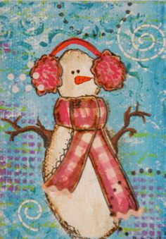 Obsessed With Paper Art: Moxie Art Snowman