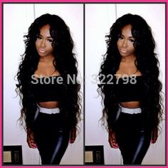 Hot long black Loose body wave wavy Unprocessed virgin peruvian u part wig human hair Middle part with baby hair for black women