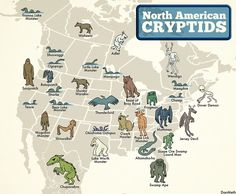 So here's a handy guide in case you decide to go looking for a cryptid near you: | The North American Cryptid Map