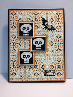 Another Halloween Hello Stampin' Up! Rubber Stamping Handmade Cards Halloween Cards