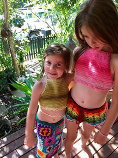 Halter crochet bikini top  mermaid costume baby toddler