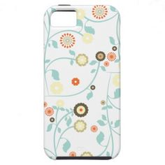 Spring flowers girly rustic chic floral pattern iPhone 5 case