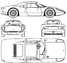 CAR blueprints - 1964 Porsche 904 Carrera GTS Coupe blueprint