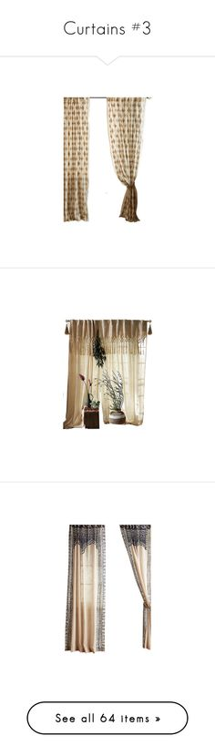 """Curtains #3"" by sally-simpson ❤ liked on Polyvore featuring home, home decor, window treatments, curtains, harlequin curtains, diamond curtains, diamond home decor, diamond pattern curtains, macrame window treatments and macrame curtains"
