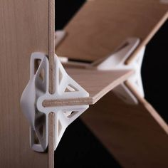 These 3D printable joints allow people to build their own furniture without the use of tools, fasteners or glue.: