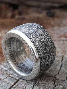 Aztec Jewelry, Jewlery, Jewelry Rings, Unique Jewelry, Run The Jewels, Aztec Calendar, Coin Art, Wildstyle, Silver Shop