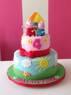 Peppa Pig is actually a United kingdom preschool computer animated television set sequence focused and Tortas Peppa Pig, Fiestas Peppa Pig, Bolo Da Peppa Pig, Peppa Pig Birthday Cake, Peppa Pig Party Supplies, Bolo Fack, Bolo Moana, Themed Cakes, Party Cakes