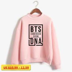 LUCKYFRIDAYF BTS Love Yourself k pop Women Hoodies Sweatshirts outwear Hip-Hop Hoodies Comeback Show New DNA K-pop Clothes