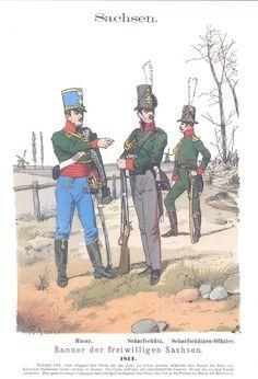 Band I #5 -  Sachsen. Banner der freiwilligen Sachsen. 1814.