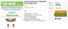 Solgar, Choline/Inositol, 500mg/500 mg, 100 Veggie Caps   http://iherb.com/Solgar-Choline-Inositol-500mg-500-mg-100-Veggie-Caps/15507