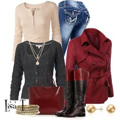 Cardigan, created by lkthompson on Polyvore