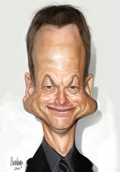 Caricatures 3 by Marco Calcinaro, via Behance ... Gary Sinise