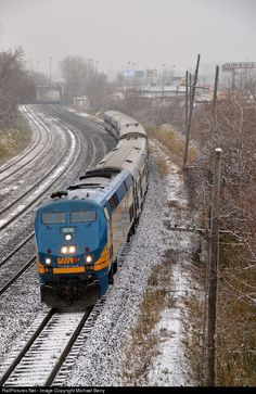 RailPictures.Net Photo: VIA 906 VIA Rail GE P42DC at Montreal West, Quebec, Canada by Michael Berry