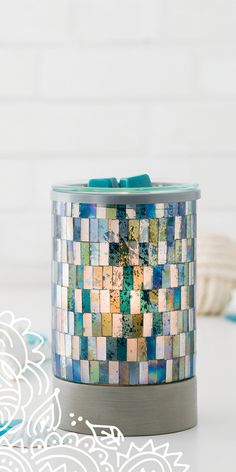 Ocean Mosaic Scentsy Lightbulb warmer. Let the Bohemian spirit guide your next creative journey. www.sotm.scentsy.com.au