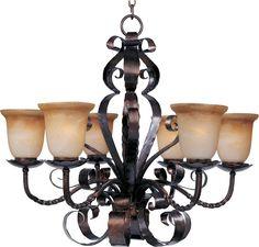 Maxim 20607 Aspen 6 Light Single-Tier Chandelier Oil Rubbed Bronze Indoor Lighting Chandeliers