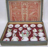 Vintage Crown Fairy Childs Tea Set in Box Germany Complete ! Teapot Creamer PLUS Porcelain Ceramics, Porcelain Jewelry, Porcelain Doll, Vintage Toys, Vintage Dishes, Vintage Stuff, Childrens Tea Sets, Pottery Videos, Wedding Vases