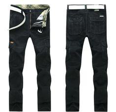 Autumn Winter Fashion Menswear Man Pants Loose Thicken Leisure Straight overalls…