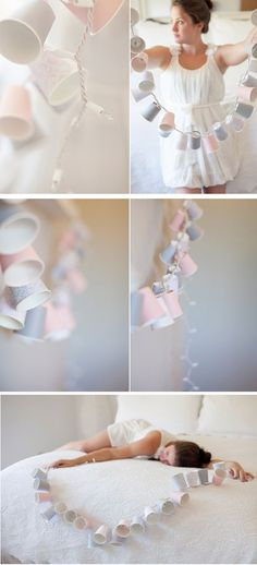 diy, cup, garland, tutorial