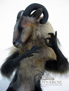 Mouflon Goat Room Guardian by AnyaBoz.deviantart.com on @DeviantArt