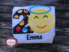 Angel Emoji Emoji Birthday Shirt Emoji Shirt Emoji Emoji Birthday Shirt, Emoji Shirt, Birthday Shirts, Back 2 School, Applique, Lunch Box, Angel, Trending Outfits, Unique Jewelry