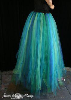 Adult tutu skirt Streamer floor length formal bridal mermaid halloween costume prom wedding --Small -- Ready to ship -- Sisters of the Moon Mermaid Halloween Costumes, Hallowen Costume, Diy Costumes, Fancy Dress, Dress Up, Adult Tutu Skirts, Halloween Karneval, Tulle Tutu, Cosplay