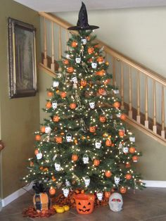 Shelley B Decorated Tree Halloween with Ghost Topper. More styles ...