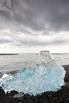 Ice on the coast of Southern Iceland
