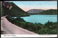 An old postcard of the Blue Lake, today a favorite place for cooling off in summer