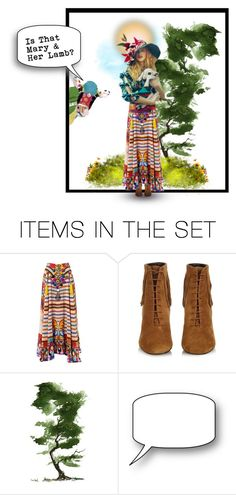 """""""Mary & Her Lamb"""" by confusgrk ❤ liked on Polyvore featuring art and AmiciMei"""