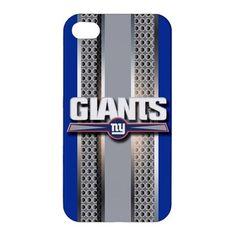 New York Giants Style Metal Design iPhone 4 4s Hardshell Case Cover