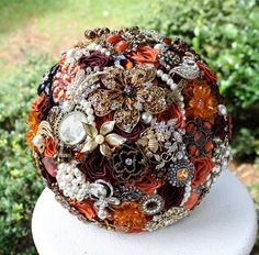 Autumn Wedding Brooch Bouquet. Deposit on made to by annasinclair, $75.00