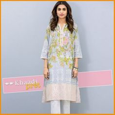 Khaadi Pret Embroidered Summer Collection 2016 Vol 1 With Prices #Khaadi #LawnCollection #Embroidered #Dresses