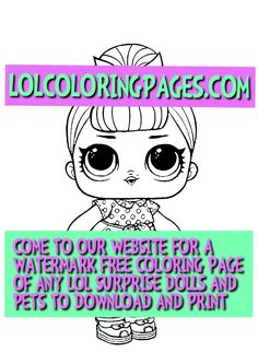 LOL SURPRISE COLORING PAGES lolcoloringpages on Pinterest