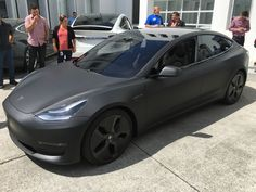 Electric Tesla looks like a modern sophisticated batmobile