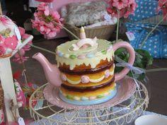 birthday cake teapot