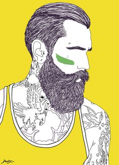 beard illustration - Поиск в Google