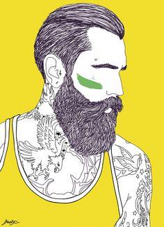 beard illustration - Поиск в Google