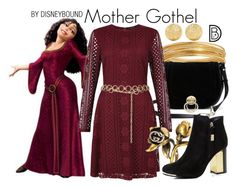 """""""Mother Gothel"""" by leslieakay ❤ liked on Polyvore featuring Bold Elements, Diane Von Furstenberg, Carolina Bucci, New Look, Gucci, Topshop, disney, disneybound and disneycharacter"""