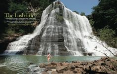 Tennessee is home to parks, natural areas and more than 200 waterfalls!    This is the biggest waterfall in TN!  I've been here and swam at the base!  LOVE!