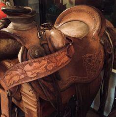 "Buckaroo Saddle & Pulling Collar made for ""Big Bend Saddlery"", by S."