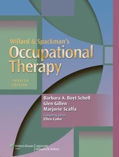 Text: Willard & Spackman's Occupational Therapy 12th ed (Schell) || Course: OT 5163 Foundations of OT, OT 5132 Persons, Tools & Occupations || Campus: Denton, Dallas, Houston || Sequence: Fall Module 1 || Amazon: http://www.amazon.com/Willard-Spackmans-Occupational-Therapy-Barbara/dp/1451110804/ref=sr_1_1?ie=UTF8&qid=1408477162&sr=8-1&keywords=Willard+%26+Spackman%27s+Occupational+Therapy+12