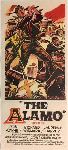 the alamo daybill poster with john wayne, available to purchase from our archive.