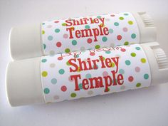 Shirley Temple Flavor - Lip Balm - Natural - Vegan  - No sweeteners - Bath and Beauty  -Home and Living