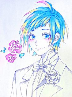 Hot Anime Guys, Anime Love, Zutto Mae Kara, Honey Works, Art Corner, Kawaii Anime, Anime Characters, Pastel, Chibi
