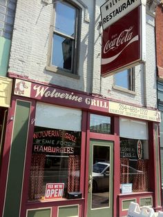 """The Wolverine.  Local music, art, and food- these are a few of our favorite things!  This Ypsi staple is comfy, hosts artists' displays from time to time and is the """"Unofficial Home of the Michigan Music Hall of Fame""""."""