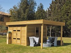Uncategorized , Some Great Ideas Of Transforming And Prettying Up Your Ordinarily Plain Garden Sheds Into Cool Garden Shed Designs : Minimalist Wooden Garden Shed