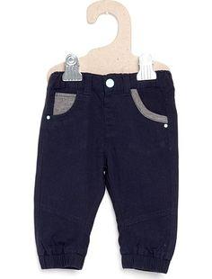 Pantalon canvas ajustable bleu marine Bébé garçon