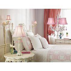 Pretty in Pink Swag Style Plug-In Mini Chandelier | LampsPlus.com