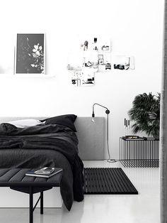 Black and white bedroom design   Blackhaus Studio