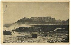 South Africa Old Postcard Capetown View Of Table Mountain   eBay